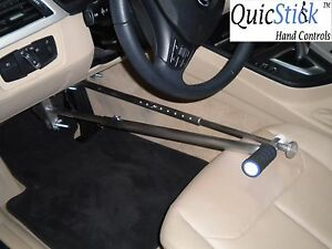 Quicstick Portable Hand Controls Disabled Handicap Driving Aid Car