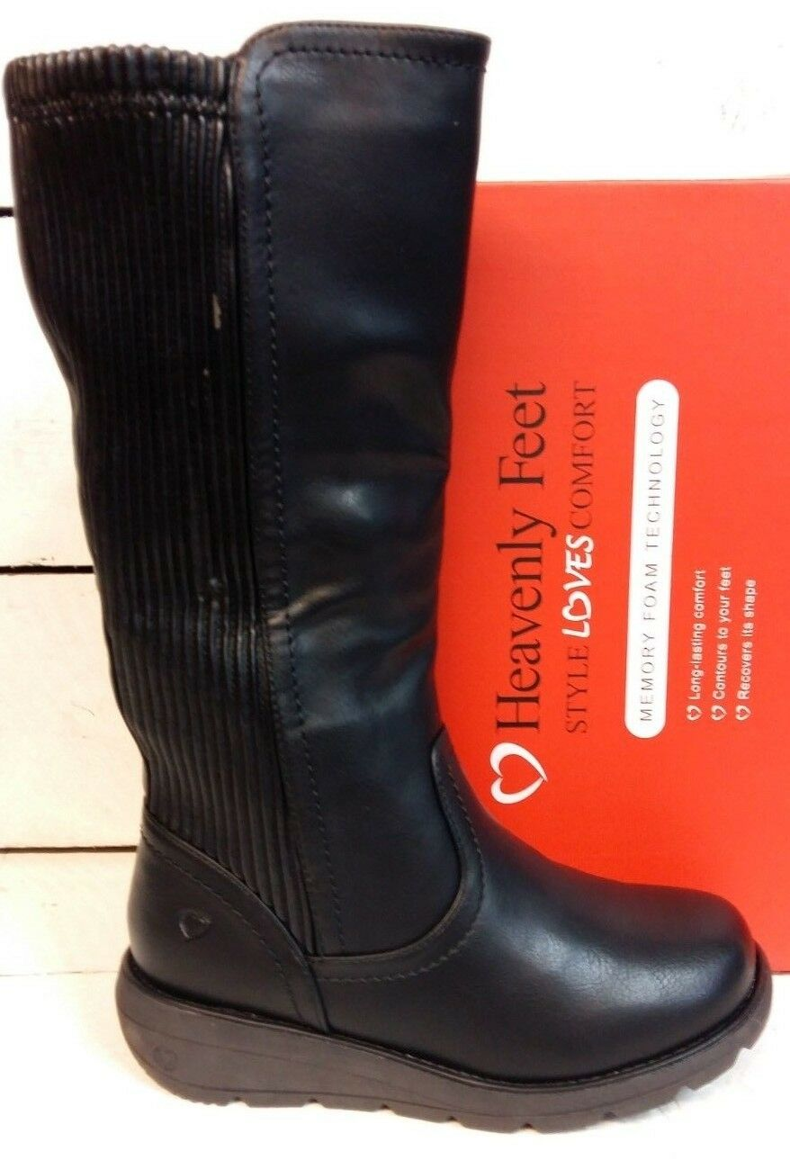 Femmes Femmes Femmes Heavenly Feet Ursula Knee High Zip Up bottes 03bf2c