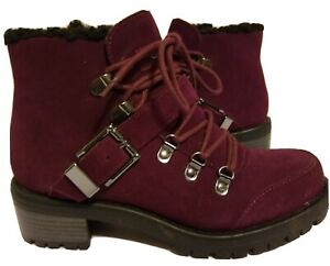 FINAL CLEARANCE NWD* Sporto  KATIE WINE Waterproof Suede  Hiker Boot  6M