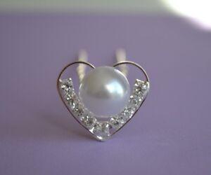 Impartial 3 X Mariage Coeur & Pearl Style Mariage épingles à Cheveux Prom Mariage Cheveux Accessoires-afficher Le Titre D'origine Grandes VariéTéS