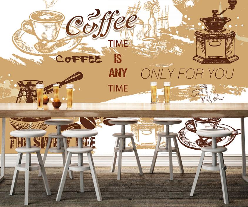 3D Kaffeethema Poster 7 Tapete Wandgemälde Tapete Tapeten Bild Familie DE Summer | Moderne und stilvolle Mode  | 2019  |