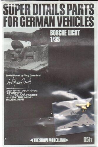 PHOTO-ETCHED FOTOINCISIONI BOSCHE LIGHT 1//35 THE SHOW MODELLING 051T