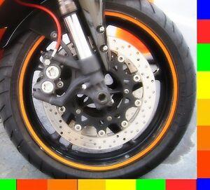 Motorcycle Rim Tape Reflective Wheel Stickers Decals Vinyl Set Kit 17 Inch 17 Ebay