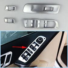 4x Chrome Car Window Mirror Switch Control Button Cover Trim For VW Tiguan 10-12