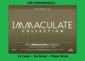 A.J. Puk Oakland Athletics 2021 Panini Immaculate 2X Case 16X BOX BREAK  #7