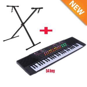 54 Keys Music Electronic Keyboard Kid Electric Piano Organ W/Mic &Adapter+ stand
