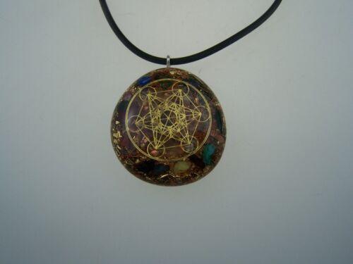 Kette in Gold Orgonitanhänger Symbol Metatron Metatron Orgon Orgonit Anhänger f