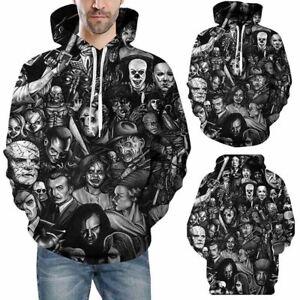 Mens-Women-039-s-3D-Print-Hoodie-Sweater-Sweatshirt-Jacket-Coat-Pullover-Skull-Top