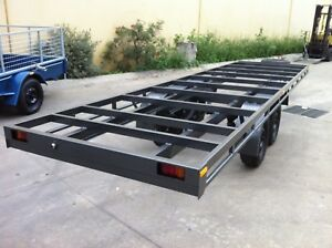 Brand-new-Table-Top-Flat-bed-Trailer-frame-TANDEM-AXLE-14X6-4FT-2T-16ft-avai
