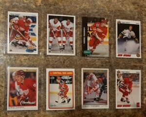 8-Sergei-Fedorov-1990-91-OPC-Premier-Upper-Rookie-Card-lot-RC-HOF-Red-Wings