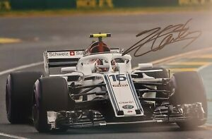 CHARLES LECLERC Sauber 2018 F1 Foto 20x30 signiert IN PERSON Autogramm signed 5
