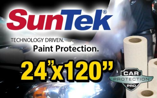 "24/""x 120/"" Genuine Suntek Paint Protection Clear Bra Film Bulk Roll Strip"