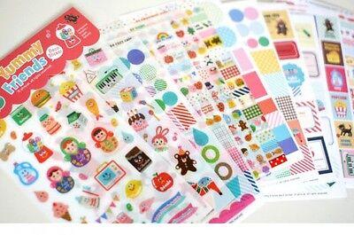 12 sheets yummy friends deco diary book Notebook calendar album  stickers