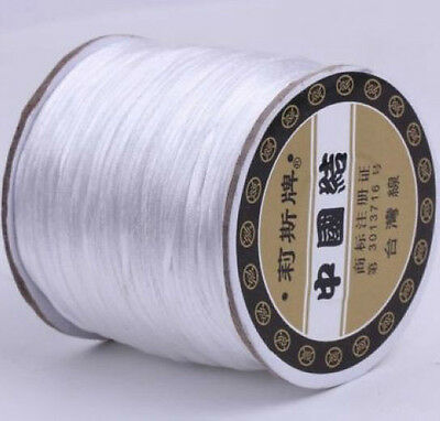 10m Nylon Chinese Knot Satin Macrame Beading Jewelry Rattail Cords 3mm 14Color