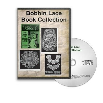 Bobbin Lace And Pillow Lace Making Patterns 5 Instructional Books On Cd B397 192839469100 Ebay