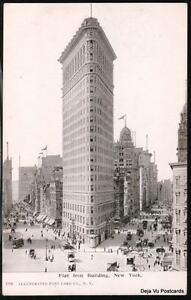 NYC-NY-Flatiron-Building-Horse-amp-Buggy-Trolley-UDB-B-amp-W