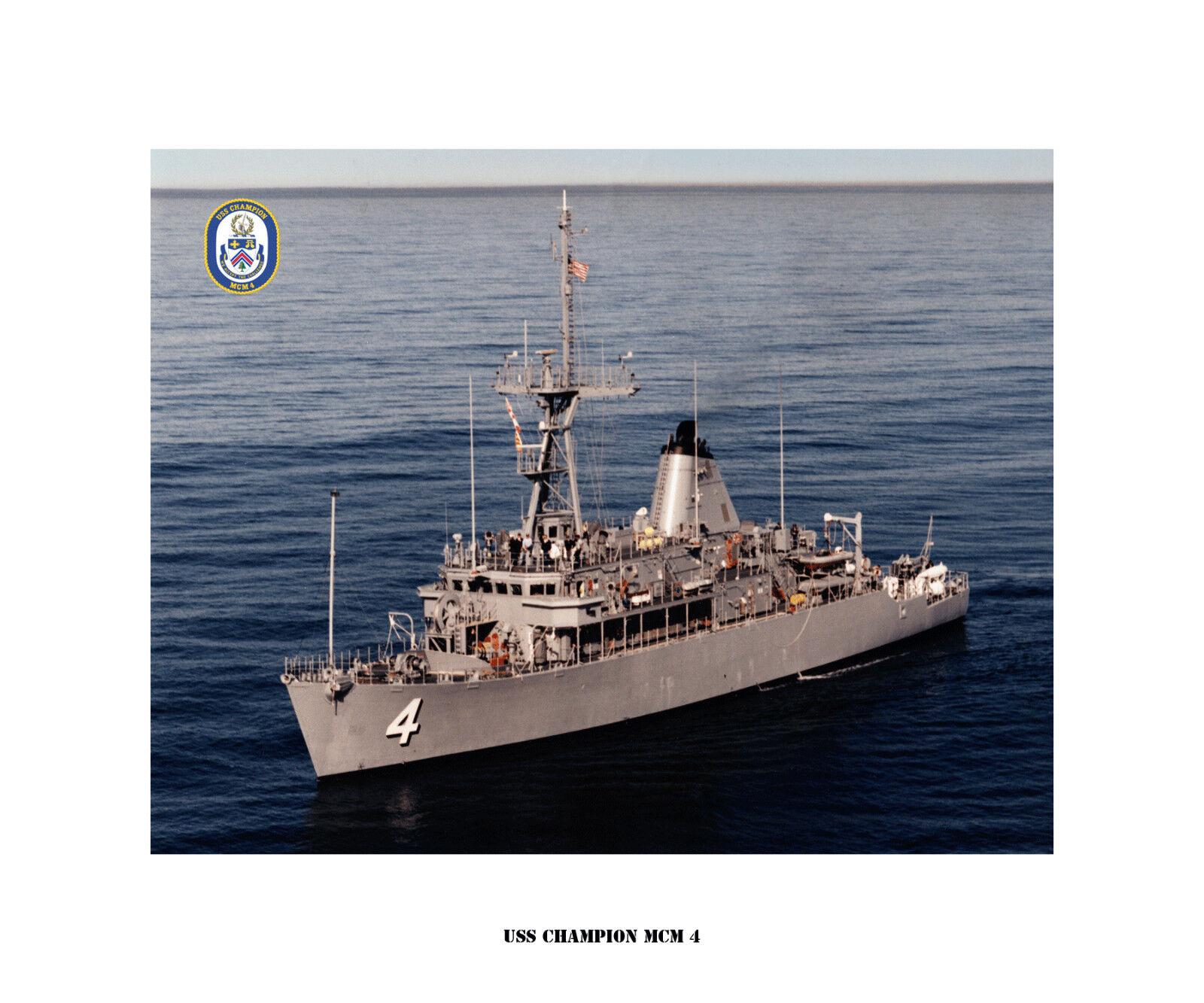 USS CHAMPION MCM 4  USN Naval Ship Photo Print