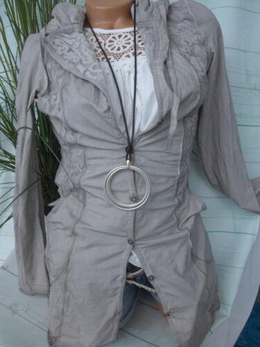 34 Cardigan Et De shirt Dames Veste Taille Sweat 36 Taupe T 198 05Rqx85