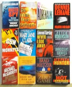 12 Books Popular Novels Best Sellers Adventure Suspense Lot A383