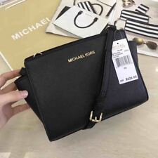 5a44da337fb4b 5genuine Michael Kors Selma Messenger Crossbody Bag Black Sales. for ...
