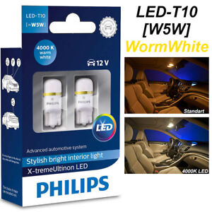 Philips W5w T10 Xtreme Ultinon Led 4000k 360 176 Car 12v Worm