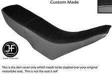 GREY & BLACK VINYL CUSTOM FITS GILERA GSM 50 DUAL SEAT COVER ONLY