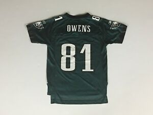 online retailer 7855d 32227 Details about Kids TERRELL OWENS Green Philadelphia Eagles Reebok Youth  Jersey - Medium 10-12