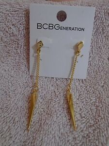 BCBGeneration-Gold-Tone-Drop-Earrings