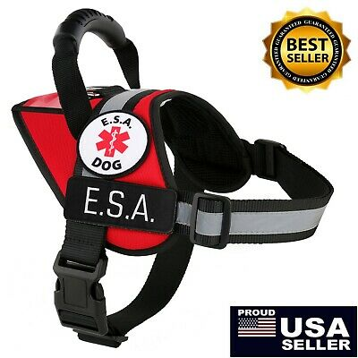 Dog Vest Reflective Harness K9 Patches