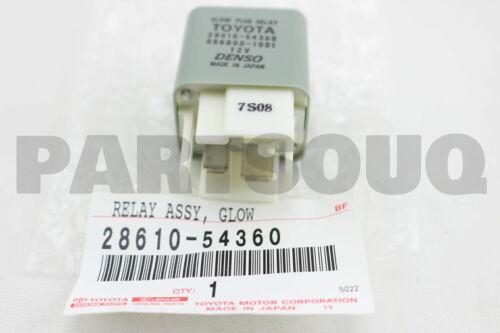 2861054360 Genuine Toyota RELAY ASSY GLOW PLUG 28610-54360