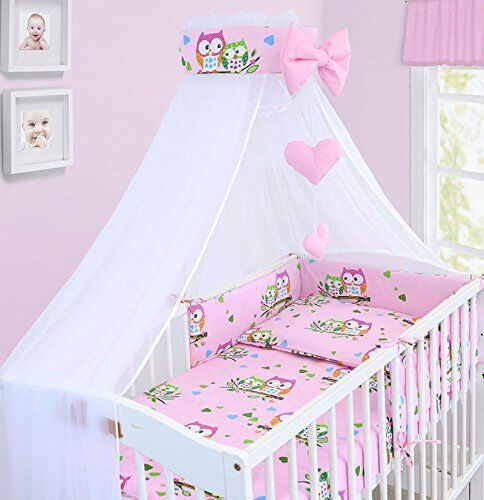 BEDDING SET BABY NURSERY COT COTBED PILLOW DUVET COVER BUMPER CANOPY 3//6//10//14Pc