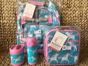 Pottery Barn Kids Unicorn Small Backpack Lunch Box Water Bottle