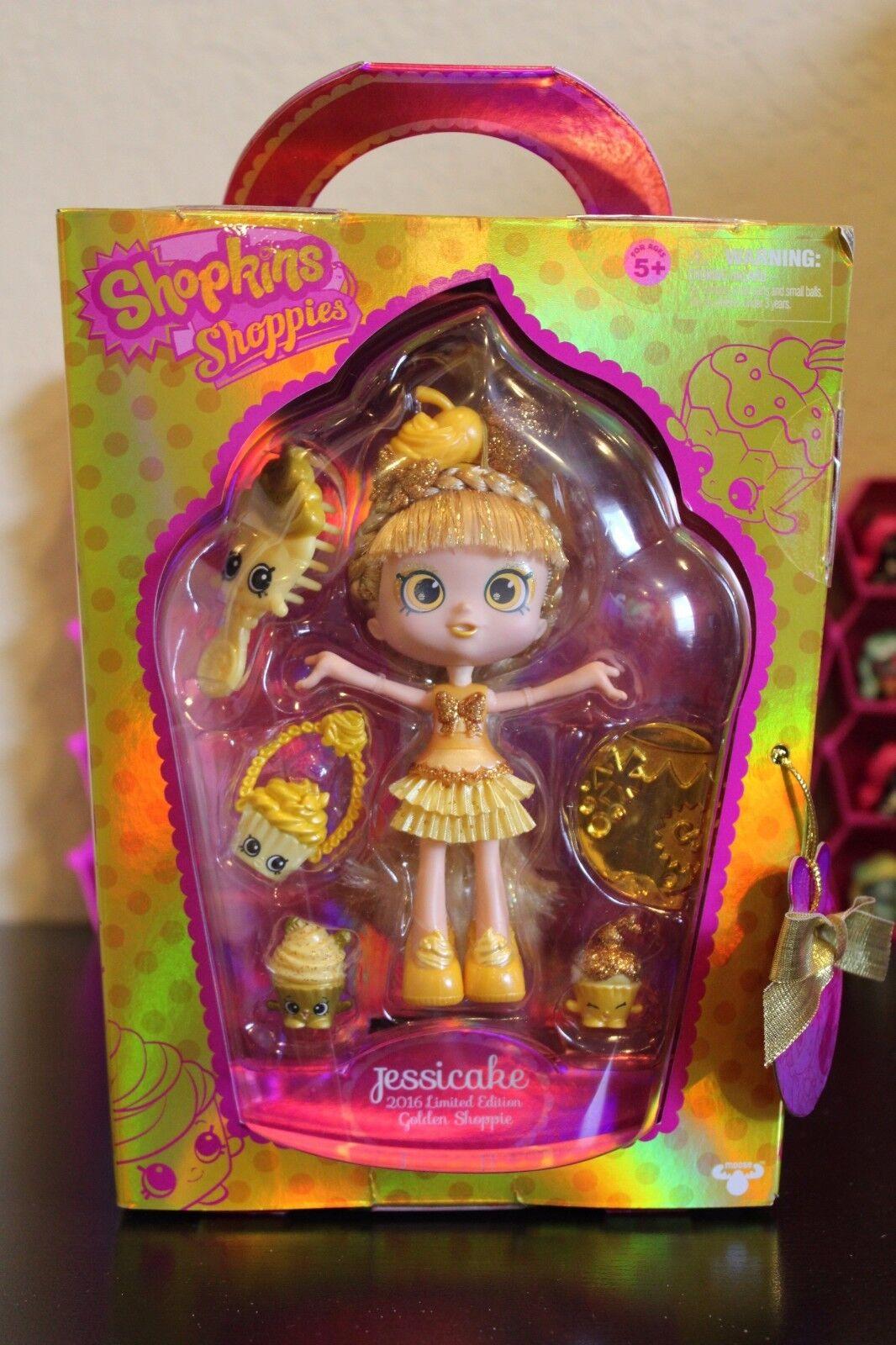 SDCC 2016 Exclusive Shopkins Shoppies Jessicake LE golden Shoppie -- In Hand
