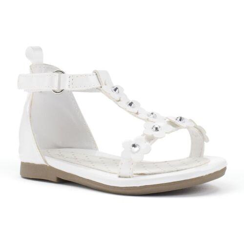 Carter/'s Toddler White Sandals ALISA 2 Flower Girl Rhinestone White Size 5 6 NEW
