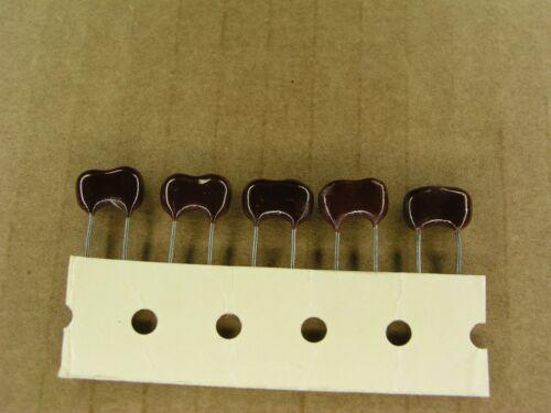 S01029-096 5 Pc Lot 2 /% radial silver mica capacitor 93 pf 500 volt 500V