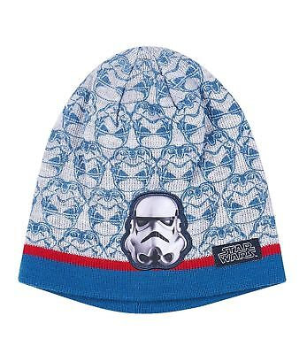 Boys Girls Kids Official Licensed Star Wars Stormtrooper Grey Beanie Winter Hat