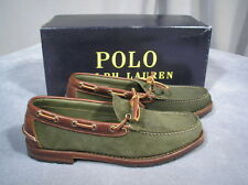$695 Ralph Lauren Bench Made in Maine USA Oil Leather suede Kyse shoes U.S. 9 D
