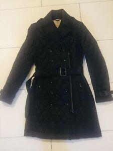 Details zu BURBERRY BRIT Steppjacke Mantel Gr. XS Schwarz Damen Jacke