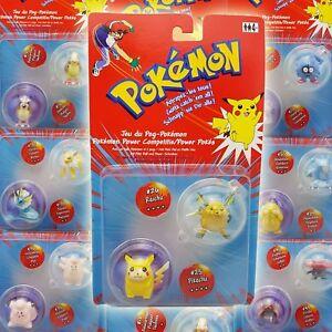 Pokemon-Figuren-Power-Pokes-mit-Poke-Ball-amp-Power-Scheiben-Rar