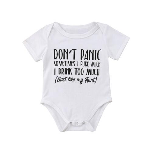 Newborn Infant Baby Boy Girl Cotton Romper Bodysuit Jumpsuit Clothes Outfit Lots