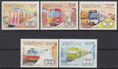 Laos Briefmarken 1342/46 ** 130 Jahre U-bahnen Unter Der Voraussetzung Laos Minr