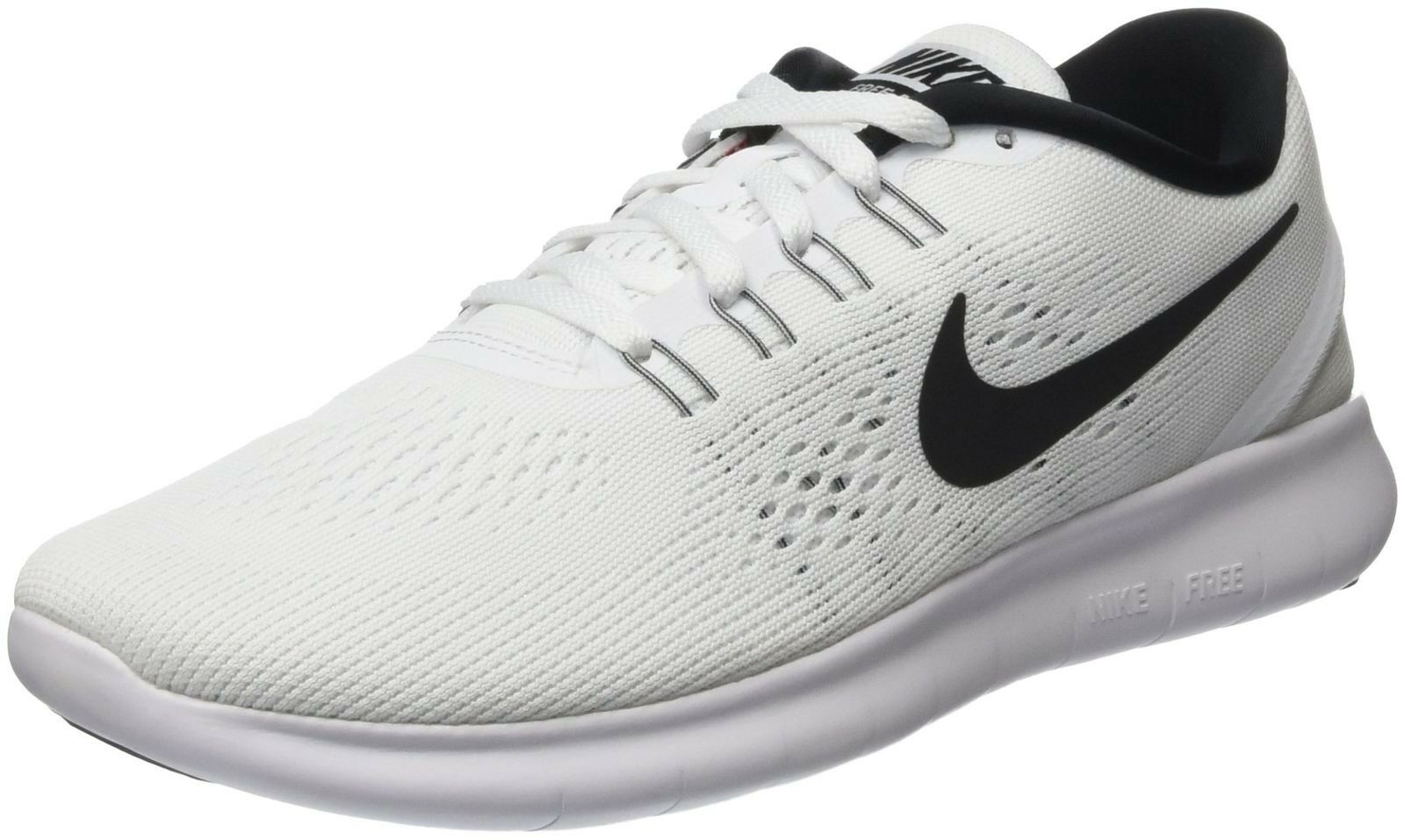 Nike Mens Free RN Running Shoes White/Black 831508-100 Size 11