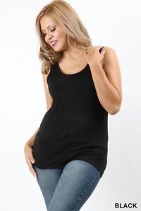 NWOT-Women-039-s-Boutique-Double-Scoop-Neck-Tank-Top-Plus-Size-2X-NEW-Black