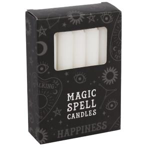 Magique-Sort-Bougie-Blanc-Happiness-Bougie-pour-Rituels-Wicca-Sorcieres