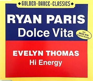 Ryan-Paris-Evelyn-Thomas-Maxi-CD-Dolce-Vita-Hi-Energy-Germany-M-M