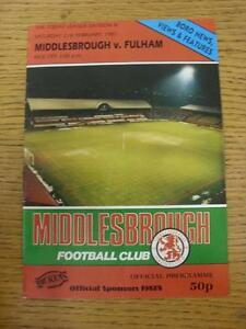 21021987 Middlesbrough v Fulham  Creased Folded - <span itemprop=availableAtOrFrom>Birmingham, United Kingdom</span> - Returns accepted within 30 days after the item is delivered, if goods not as described. Buyer assumes responibilty for return proof of postage and costs. Most purchases from business s - Birmingham, United Kingdom