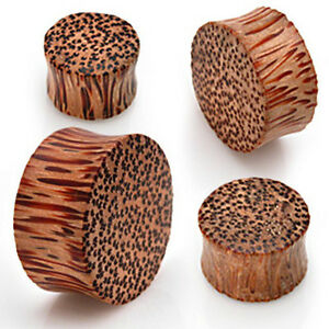 Pair-Solid-Organic-Coco-Wood-Saddle-Ear-Plugs-Tunnels-Earlets-Gauges