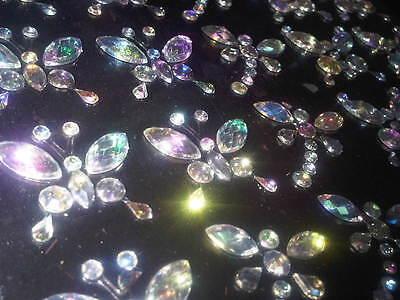 CraftbuddyUS 20x20 AB Clear Diamante Butterfly Gems Self Adhesive Crystal Craft