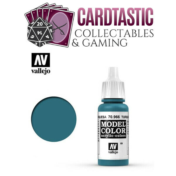 Vallejo Model Color Paint 17mL Turquoise 70.966