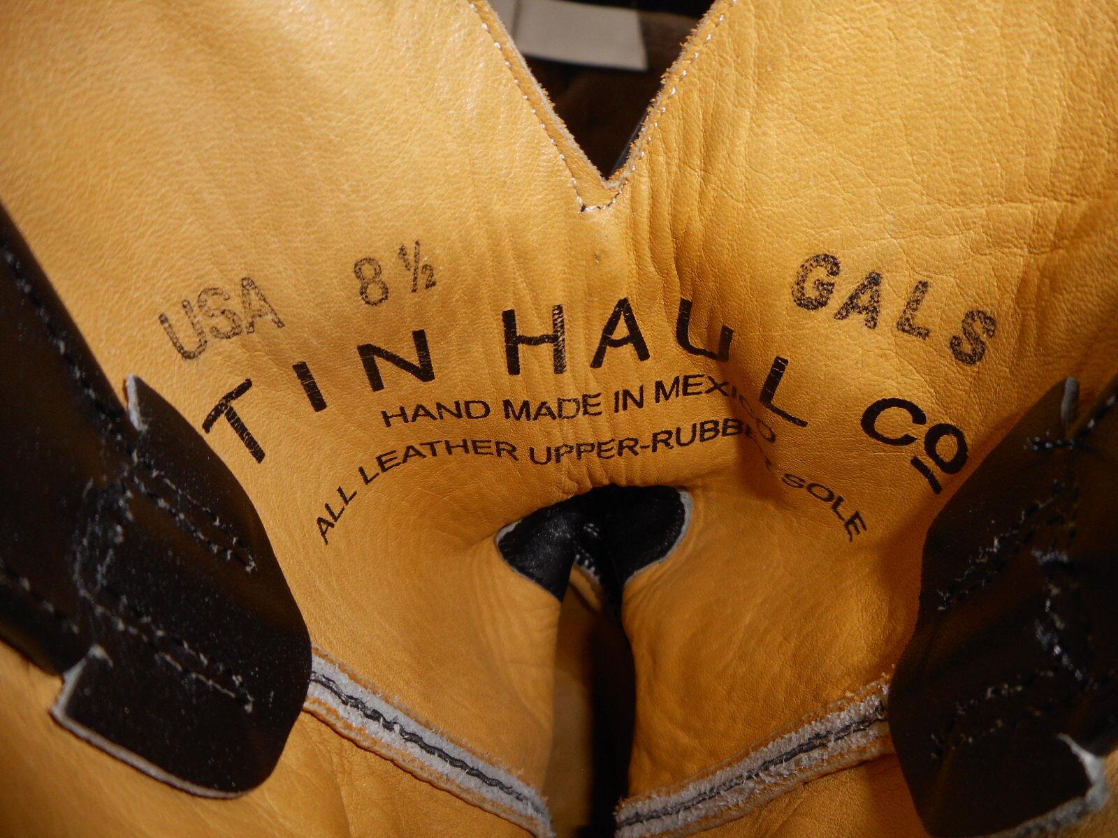 Tin Tin Tin Haul Donna Stivali 8.5 B Used Cowboy Western Riding Electric Kitty Cheetah 4f541c